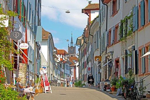 Basel, Road, Shopping Street, Switzerland