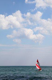 Sailboat, Water, Sea, Sailing, Blue, Summer, Sky, Lake