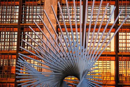 Spiral, Rods, Sculpture, Pattern, Landmark