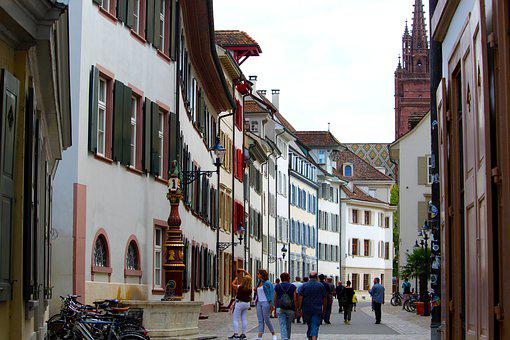 Basel, Alley, Cathedral Square, Switzerland