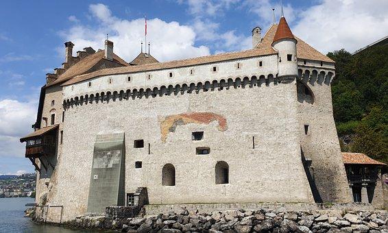 Chateau Chillon, Switzerland, Castle, Montreux