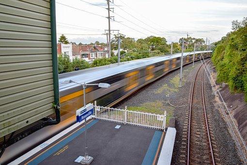 City, Train, Railway, Urban, Platform, Station