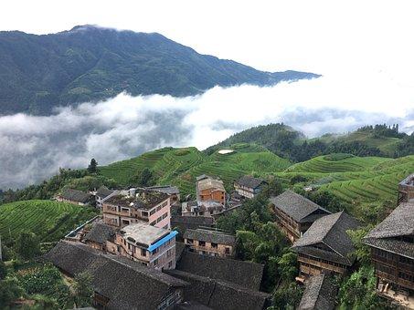 Terrace, Longsheng-china, Landscape, Vegetation