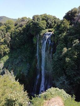 Water, Waterfall, Marmore, Bio, Tree, Nature