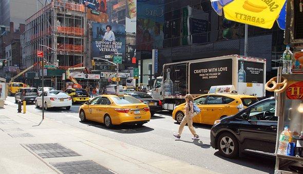 New York, Usa, Yellow, Cab, Taxi, America, Nyc