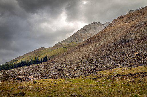 Foothills, Rockies, Canada, Alberta, Autumn, Landscape