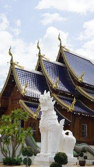 Chiang Mai, Temple, Blue Temple, Buddhism, Stupa