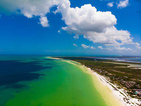 Beach, Drone, Landscape, Holiday, Island, Sand, Boat