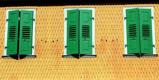 The Window, Shutters, Building, Architecture, Facade