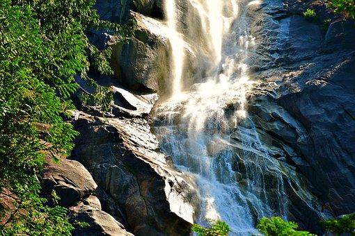 Waterfalls, Cascading Water, Water Flow, Nature