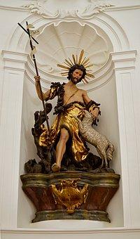 Christ, Jesus, The Good Shepherd, Sculpture