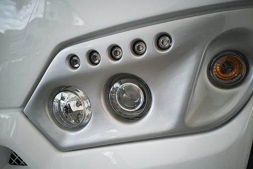 Bus, Headlight, Light, Car, Vehicle, Detail, Truck
