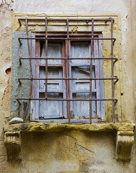 Window, Building, Tuscany, Italy, Facade, Iron Work
