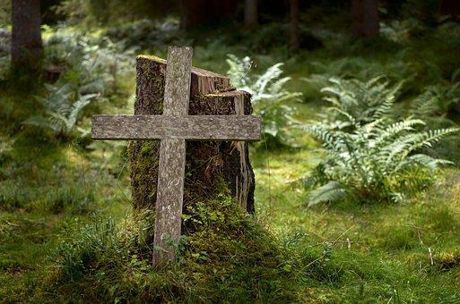 Cross, Forest, Death, Mountains, Religion, Faith, God