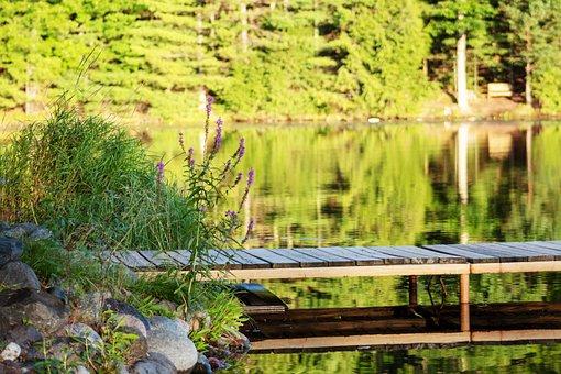 Lake, Pier, Water, Landscape, Peaceful, Outdoors