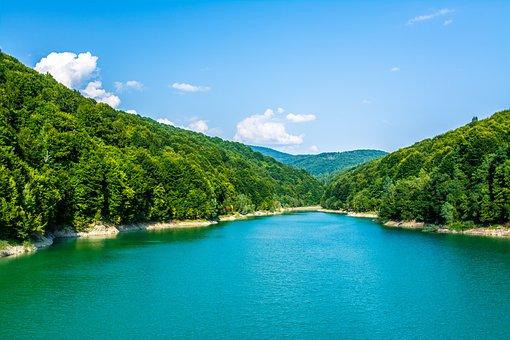 Landscape, Lake, Water, Nature, Mountain, Sky, Blue