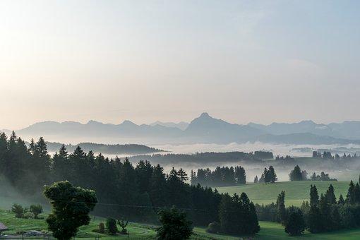 Panorama, Fog, Morning, Landscape, Nature, Sky