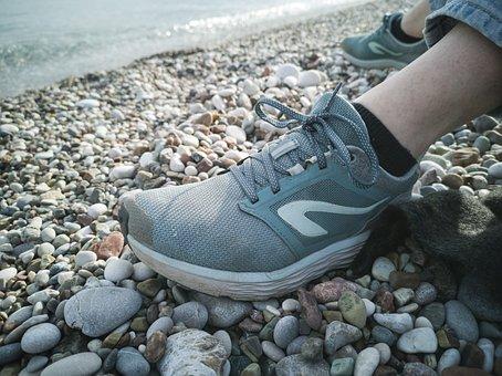 Shoes, Sports, Relax, Plastic, Nature, Marine, Walk