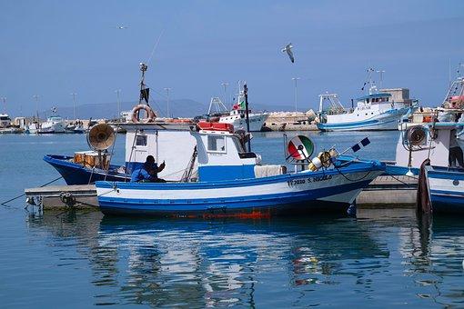 Italy, Sicily, Mediterranean, Port, Fishing