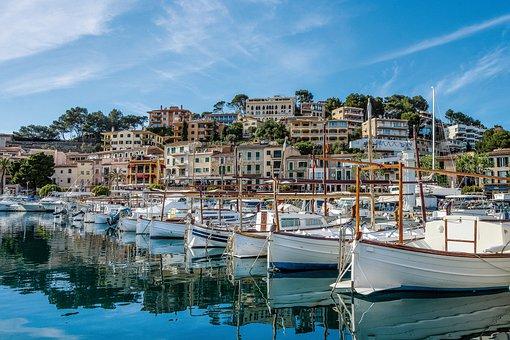 Spain, Mallorca, Sóller, Port, Travel, Vacations, Sea