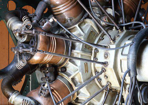 Radial, Aircraft, Engine, Ice, Combustion Engine