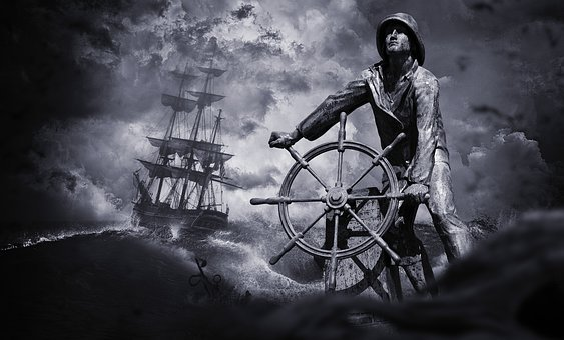 Sailor, Ship, Shipwreck, Sea, Forward, Water, Sail