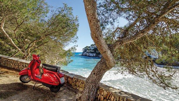 Spain, Mallorca, Cala Santanyi, Sea, Summer