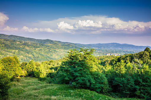 Landscape, Sky, Mountain, Nature, Green, Forest