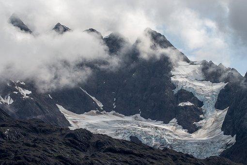 Alaska, Glacier, Snow, Ravine, Cold, Mountain, Summit