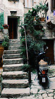 Croatia, Old Stairs, Stairs, Architecture, Facade