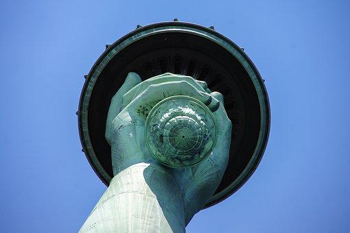 New York, Nyc, Usa, Statue Of Liberty, Closeup, City