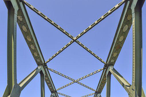 Bridge, Construction, Architecture, Steel, Metal
