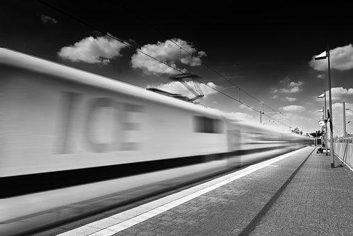Train, Ice, Railway Station, Transport, Travel, Traffic