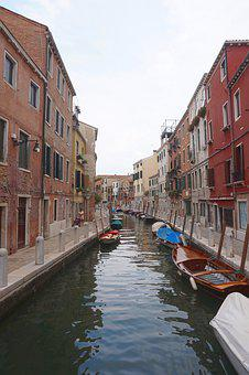 Venice, Channel, Italy, Water, Architecture, Building