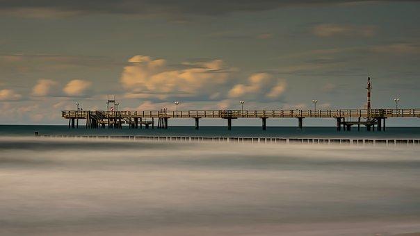 Pier, Sea Bridge, Baltic Sea, Water, Seaside Resort