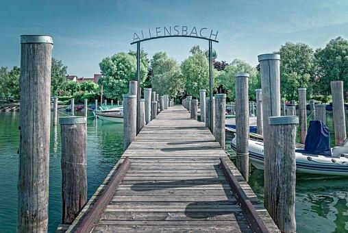Allensbach, Lake Constance, Web, Port, Bank, Boat