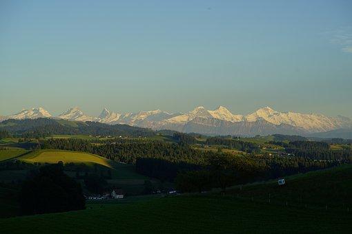 Alpenblick, Alpine, Swiss Mountains, Bernese Alps