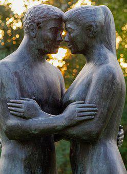 Pair, Man And Woman, Sculpture, Harmony, Art, Unit