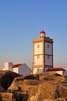 Portugal, Peniche, Coast, Atlantic, Ocean, Blue, Sky