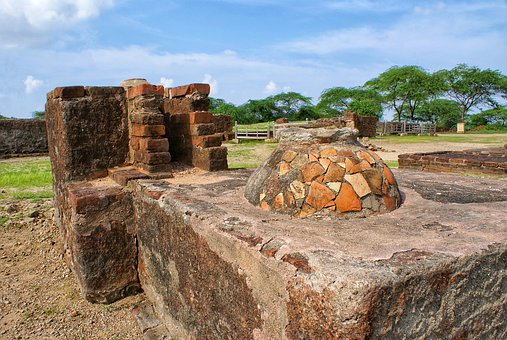 Ancient, Lothal, Place, Gujarat, India, Background
