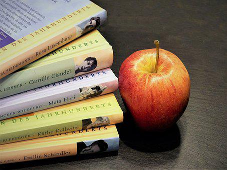 Books, Read, Literature, Education, Library, Apple