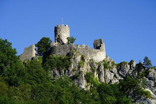 The Ruins Of Neu-falkenstein, Burgruine, Ruin, Castle