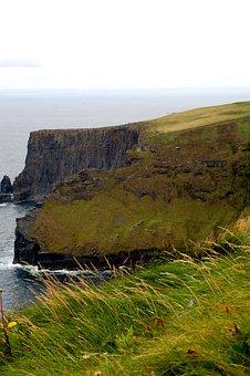 Cliffs Of Moher Munster, Ireland, Bay, Sea, Cliffs