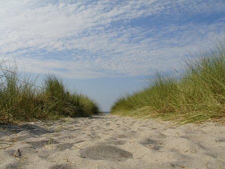 Dune, Grass, Sand, Sky, Beach, Nature, Landscape, Coast