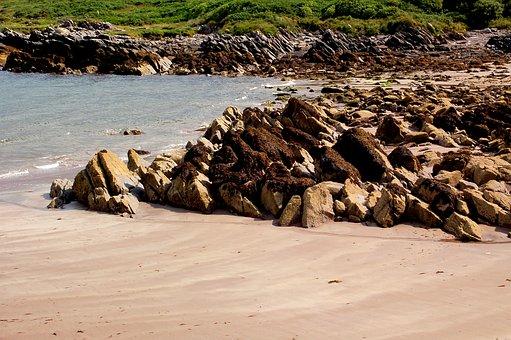 Rock, Coast, Sand, Beach, Sea, Water, Stones