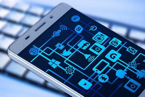 Smartphone, Keyboard, App, Internet, Network
