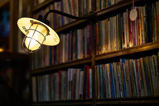 Lamp, Light, Books, Library, Read, Night, Romantic