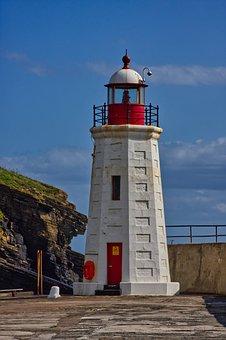 Scotland, Lighthouse, Seascape, Sky, Lybster Lighthouse