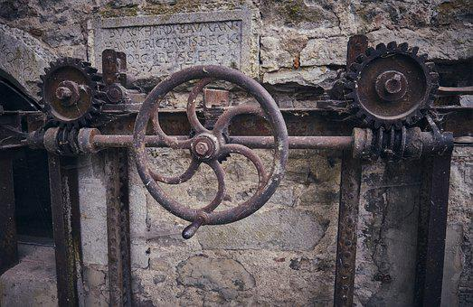 Wheel, Metal, Lock, Technology, Old, Historically