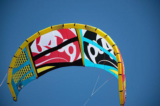 Sky, Wind, Surf, Blue, Mood, Air, Sport, Kite, Colorful